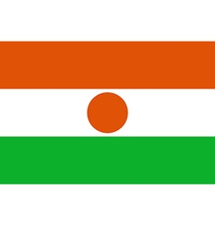 Flag of Niger vector image vector image