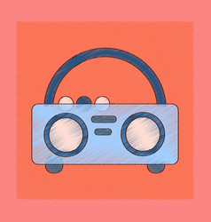 Flat shading style icon tape recorder vector
