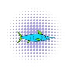 Fresh fish icon comics style vector image vector image