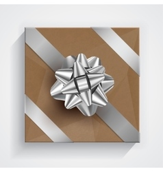 Gift box - christmas and birthday bow vector