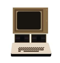 Isolated retro computer vector
