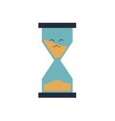 Kawaii school sand clock time cartoon vector