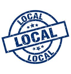 Local blue round grunge stamp vector