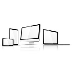 Modern device isolated vector image