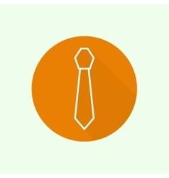 Neck tie solid color vector image vector image