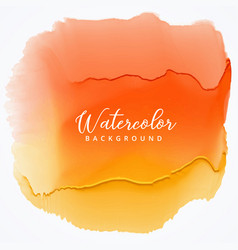 Orange watercolor stain with dripping effect vector