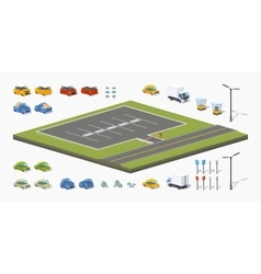 Parking lot constructor vector image