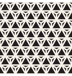 Seamless black and white triangle lines vector