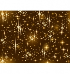 shiny christmas stars vector image