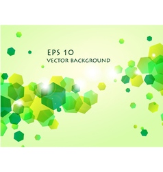 shiny green hexagon background vector image vector image