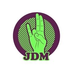 Shocker hand symbol jdm vector