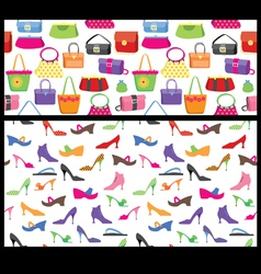 shoes and purses seamless vector image