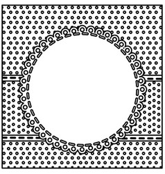 Sketch silhouette decorative frame with pattern vector