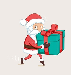 Sneaky Santa Path vector image vector image