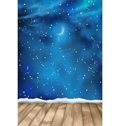 Winter Nightly Clouds Background vector image vector image