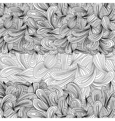 Hand drawn monochrome doodles pattern Scetch of vector image