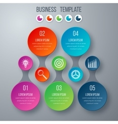Infographics template five options with circle vector