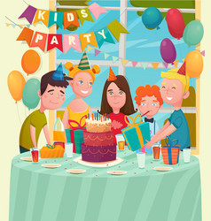b-day party children composition vector image