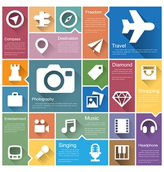 Flat design interface icon set 4 vector