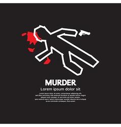 Murder vector image