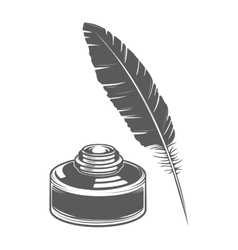 Feather pen and ink vector image