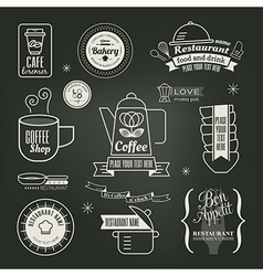 Vintage retro restaurant cafe logo design vector