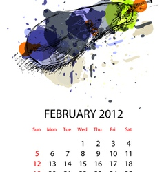 Calendar for 2012 with vegetables vector