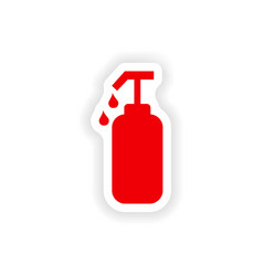 Icon sticker realistic design on paper liquid soap vector