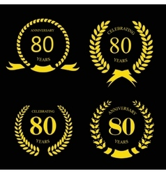 80 eighty years icon template for celebration and vector