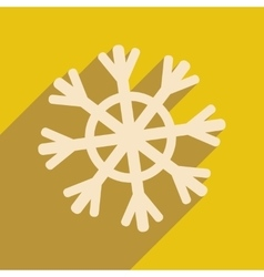 Flat icon with long shadow christmas snowflake vector