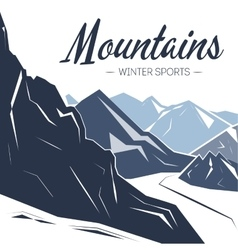 Holiday background with mountains vector