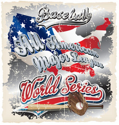 american league crack vector image vector image