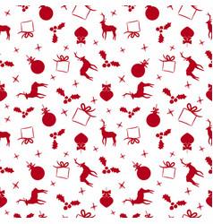 Christmas doodle ornament decoration background vector