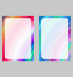 Colorful computer generated art frame set vector image vector image