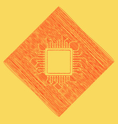 Cpu microprocessor red vector