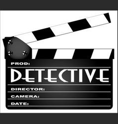 Detective clapperboard vector