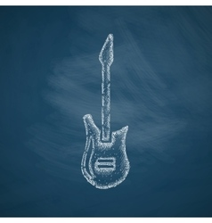 electric guitar icon vector image vector image