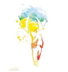 fashion watercolor vector image