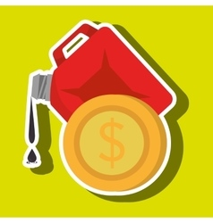 Gallon gasoline isolated icon design vector