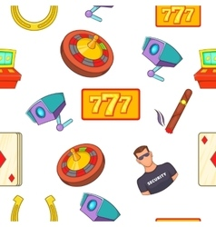 Gambling house pattern cartoon style vector