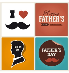 happy fathers day cards vector image vector image
