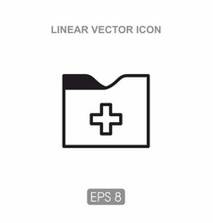 icon folder for documents vector image vector image