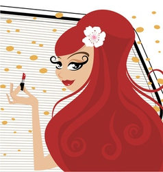 make up girl vector image vector image