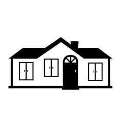 Modern house family icon vector