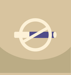 no smoking sign on colour background crossed-out vector image