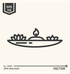 One icon - candlestick for meditation vector