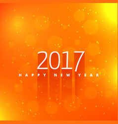 Orange background with 2017 text style effect vector