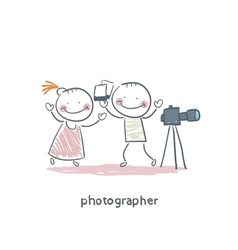 Photographer vector image vector image