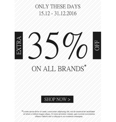 promotional Extra percent off banner vector image