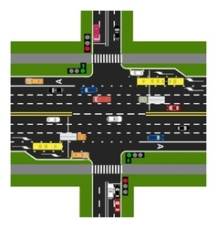 Road infographics the highway intersects with the vector